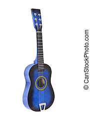 Toy Acoustic Guitar Isolated - Toy ukulele size toy acoustic...