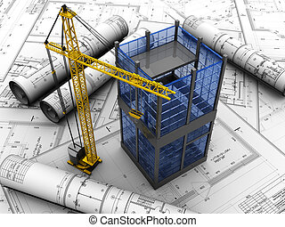 Building - New modern building design project