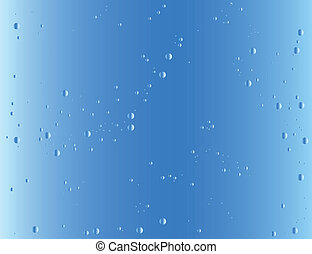 Blue gradient background with bubbles