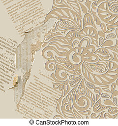 Shabby vintage wallpaper background-model for design of gift...