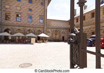 Schwarzenberg Palace, fragment, Prague, Czech Republic