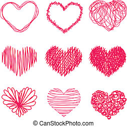 Hand drawn heart shape - Vector