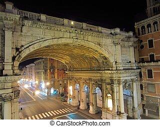 Genoa, Italy - Night in Genoa, Italy...