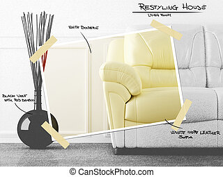 Living room restyling project