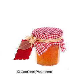 Marmalade gift isolated on white background