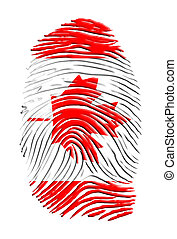Canadian identity finger print