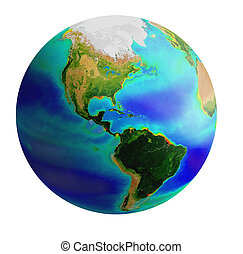 globe, america - raster image of earth from america side...