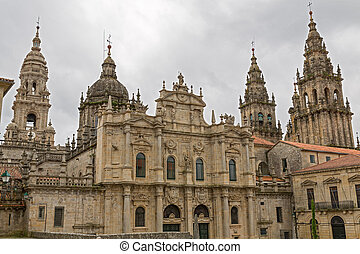 Cathedral of Santiago Azabacheria - Azabacheria Facade of...
