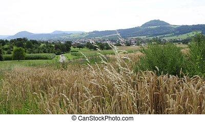 German mountain Hohenstaufen, former seat of king Barbarossa