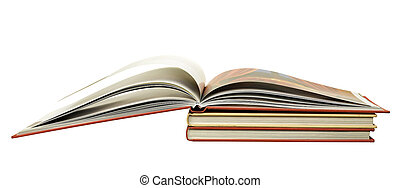 Stack of books isolated on the white,clipping path