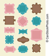 Scrapbooking Elements - Set of scrapbooking elements. Put...