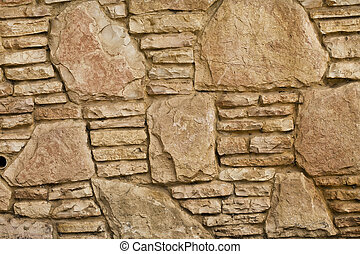 Background of stone wall texture - abstract background of...