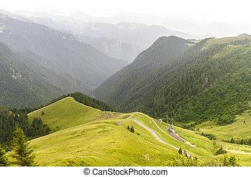 To Passo San Marco - Ascending to Passo San Marco, Alpi...