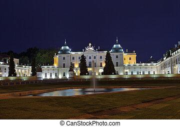 Branicki Palace at night - Branicki Palace now The Medical...