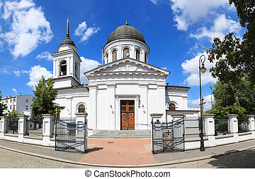 White church - Orthodox Cathedral of St. Nicholas in...