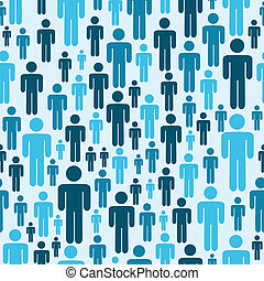 Social media people pattern - Social media blue people...