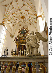 Religious statues and monuments in the Cathedral of...