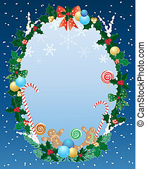 christmas border - an illustration of a decorative christmas...