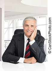 Businessman in Modern Office Setting