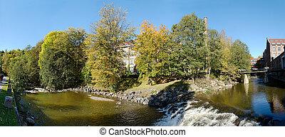 Akerselva Panorama - 180 degree panoramic view of Akerselva...