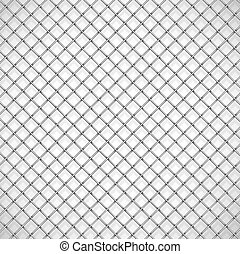 Texture the cage - Background texture the cage. Eps 10