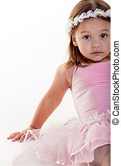 Tutu girl - The small ballerina is taking a time out from...