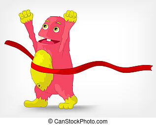 Funny Monster. Finish. - Cartoon Character Funny Monster...