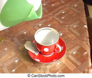 cup of tea on the table