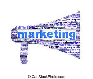Marketing symbol design isolated on white