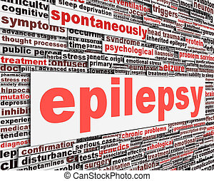 Epilepsy disorder message design. Neurological disorder icon...