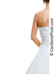 Back of bride - Image of back of bride in wedding dress...