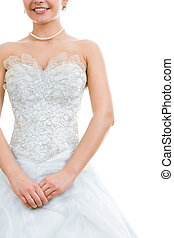 Pretty bride - Photo of pretty bride in wedding dress...