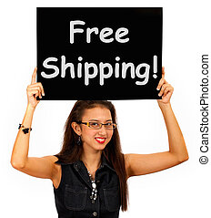Free Shipping Board Shows No Charge To Deliver - Free...