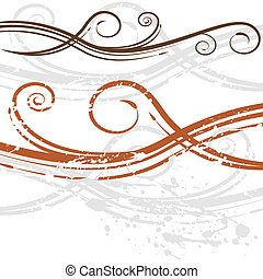 Elegant Wedding Invitation Swirl Background