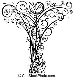 Swirl Arrow Tree - An image of a swirl arrow spiral tree