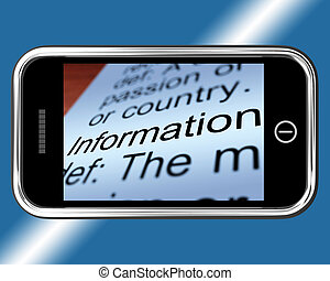 Information Definition On Mobile Shows Mobile Internet