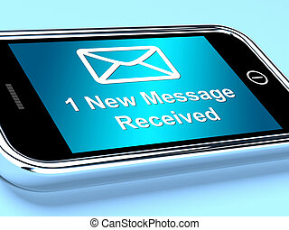 Email Envelope On Mobile Shows One Message Received - Email...