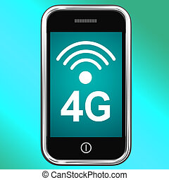 4g Internet Connected On Mobile Phone - 4g Internet...