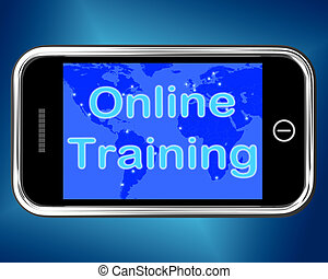 Online Training Mobile Message Shows Web Learning - Online...