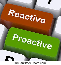 Proactive And Reactive Keys Show Initiative And Improvement...
