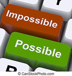 possible, et, impossible, clés, exposition, optimisme, et,...