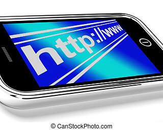 Http Address Shows Online Mobile Websites Or Internet - Http...