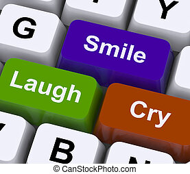 Laugh Cry Smile Keys Represent Different Emotions - Laugh...