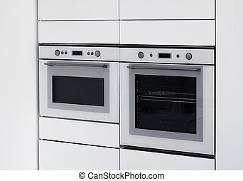 Modern ovens integrated kitchen - Modern ovens integrated in...
