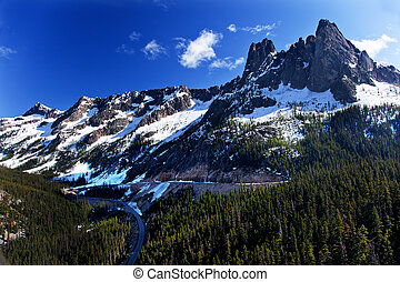 Bell Snow Mountain Washington Pass Roadway North Cascades...