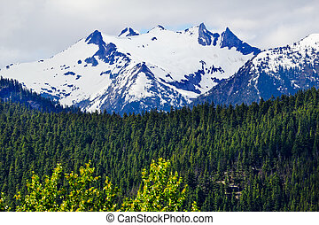 Tower Snow Mountain Washington Pass North Cascades National...