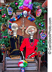 Mexican Christmas Dead Decorations Old San Diego Town...