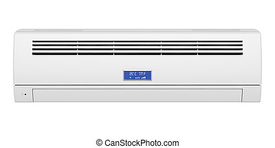 Air conditioner isolated on white background, front view