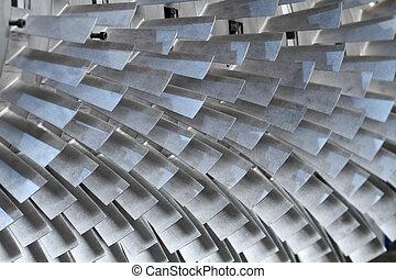 turbine rotor blades - turbine blades texture background