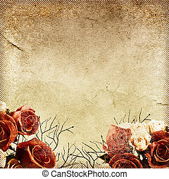 Vintage floral background - Vintage background with floral...